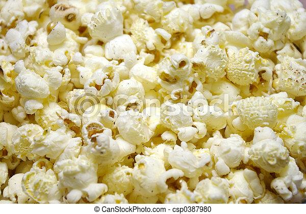 Popcorn Closeup - csp0387980