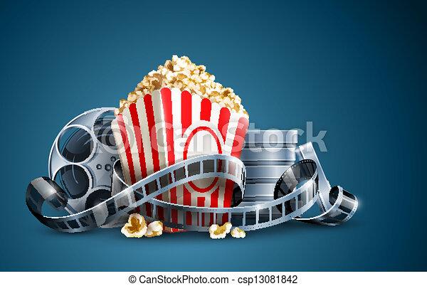 popcorn, film rabbla, film - csp13081842