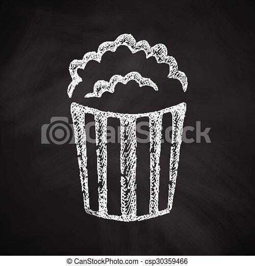 popcorn icon - csp30359466