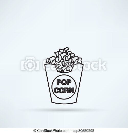 popcorn icon - csp30580898