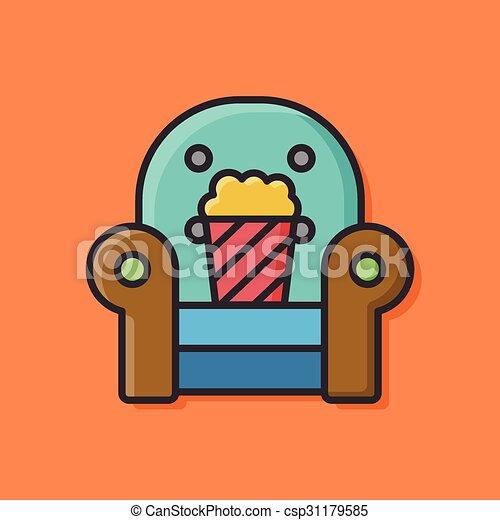 popcorn icon - csp31179585
