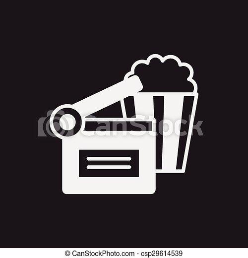 popcorn icon - csp29614539