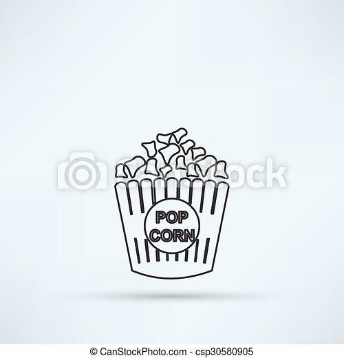 popcorn icon - csp30580905