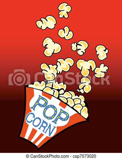 Popcorn in a box - csp7073020