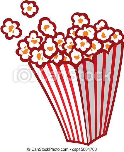 Popcorn in a striped tub - csp15804700