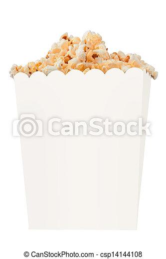 Popcorn in box - csp14144108
