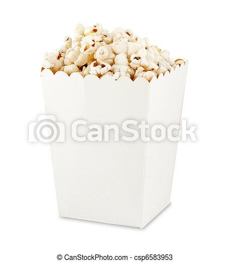 Popcorn in box - csp6583953