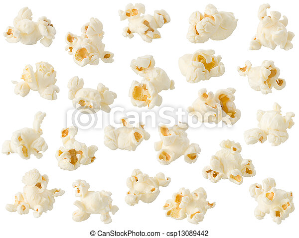 Popcorn isolated on white background - csp13089442