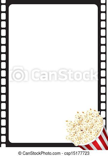Popcorn Movie Frame - csp15177723