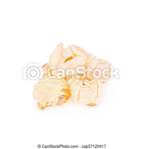 Popcorn pile isolated on white - csp37120417