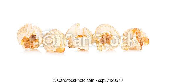 Popcorn pile isolated on white - csp37120570