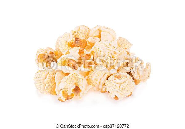 Popcorn pile isolated on white - csp37120772