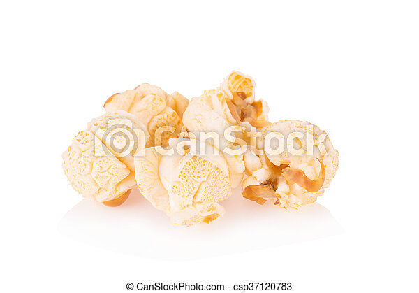 Popcorn pile isolated on white - csp37120783