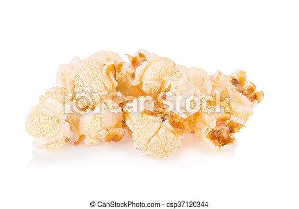 Popcorn pile isolated on white - csp37120344