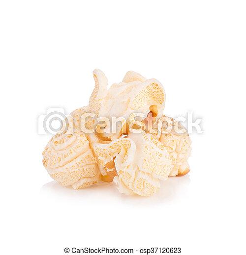 Popcorn pile isolated on white - csp37120623