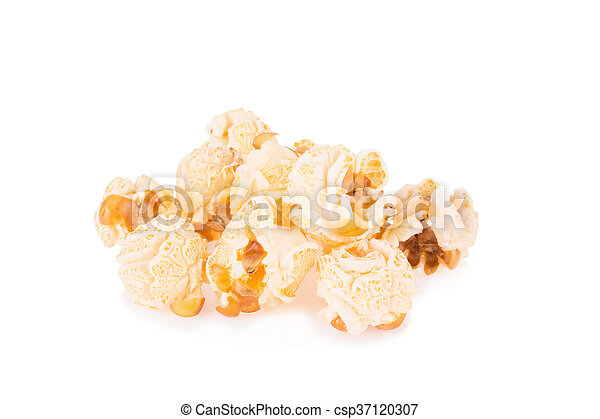 Popcorn pile isolated on white - csp37120307