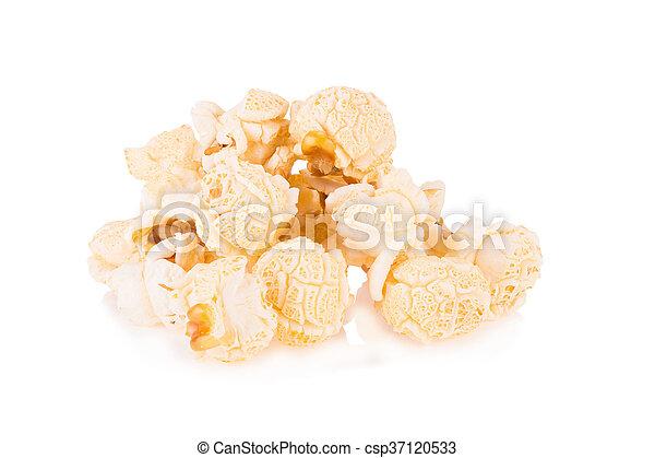 Popcorn pile isolated on white - csp37120533