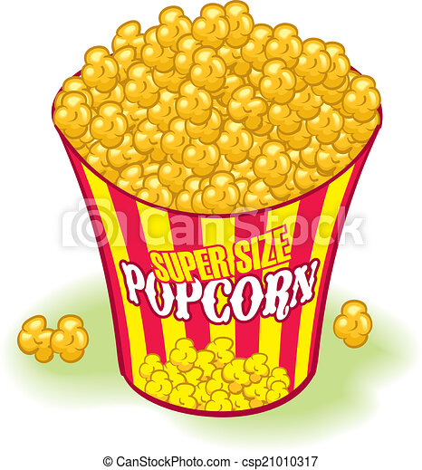 Supersized Movie Theater Popcorn Yellow And Red