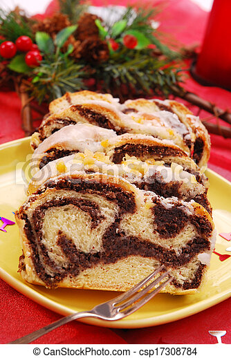 poppy cake for christmas - csp17308784