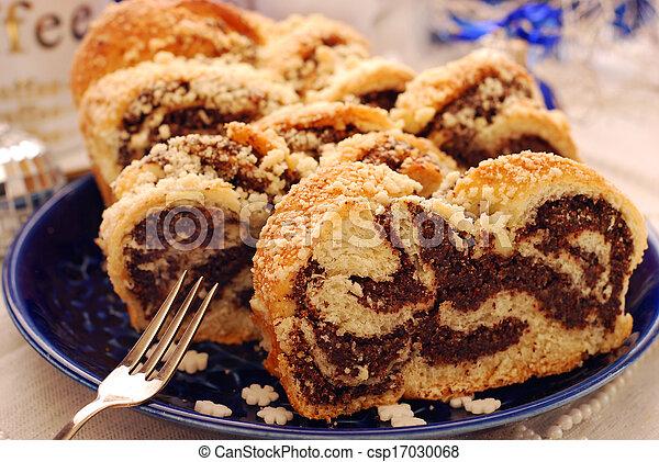 poppy cake for christmas - csp17030068