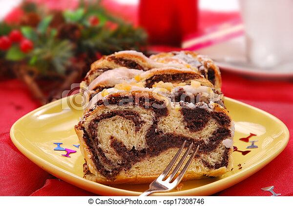 poppy cake for christmas - csp17308746