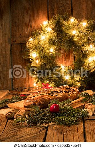 poppy cake for christmas - csp53375541
