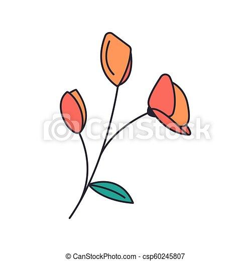 Poppy Flower Icon Cartoon Style Poppy Flower Icon Cartoon Poppy