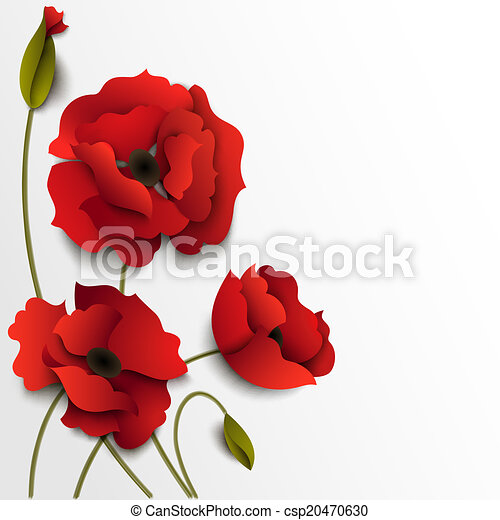 Red poppy flowers paper floral background vectors search clip art poppy flowers paper floral background csp20470630 mightylinksfo Image collections