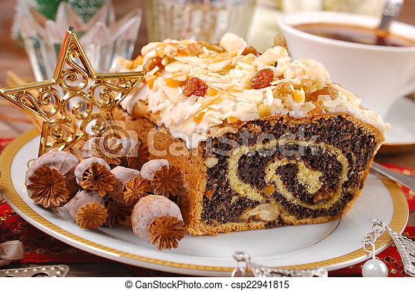 poppy seed cake for christmas - csp22941815