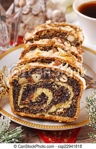 poppy seed cake for christmas - csp22941818