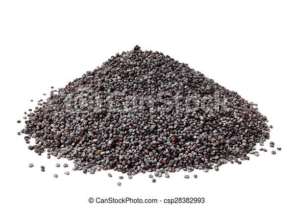 Poppy seeds - csp28382993