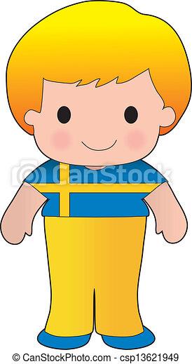 Poppy Sweden Boy - csp13621949