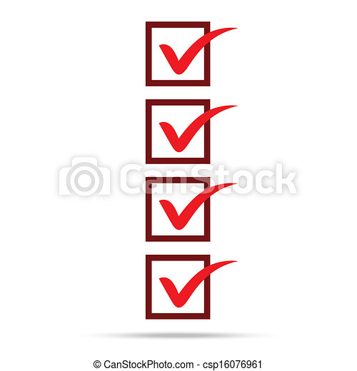 Popular Check List Symbol Right Mark Isolated