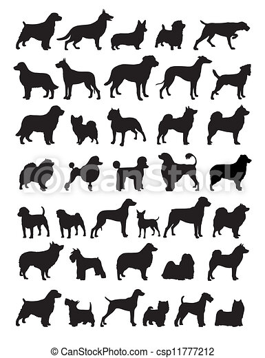 Boxer Dog Silhouette Clip Art Popular dog breeds sil...