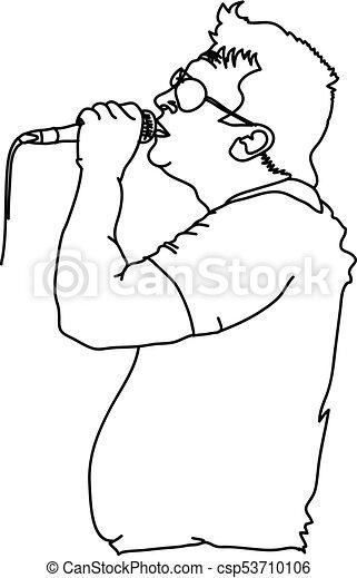 Popular Singer Super Star Vector Silhouette Illustration Isolated On