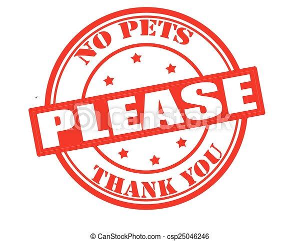 Sin mascotas, por favor - csp25046246