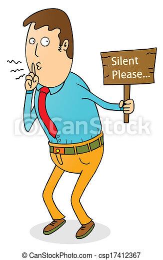 Silencio, por favor - csp17412367