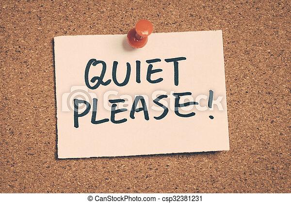 Silencio, por favor - csp32381231