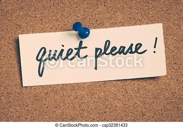 Silencio, por favor - csp32381433