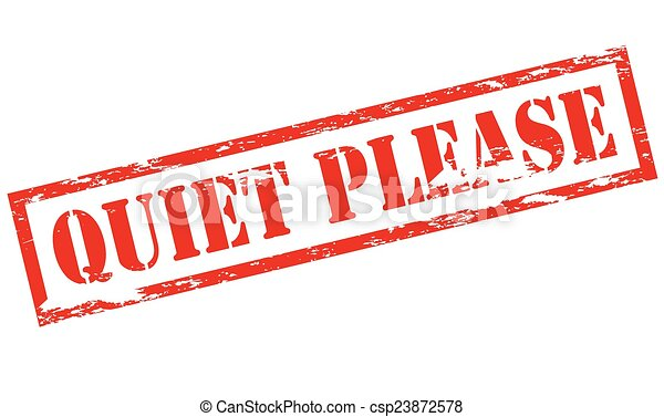 Silencio, por favor - csp23872578
