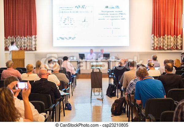 porada, presentation., mluvčí, povolání - csp23210805
