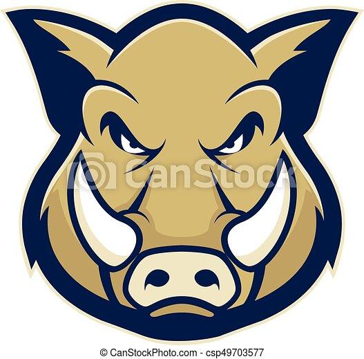 porc  t u00eate  sanglier  ou  mascotte image  t u00eate  clipart puma logo vector image puma free vector