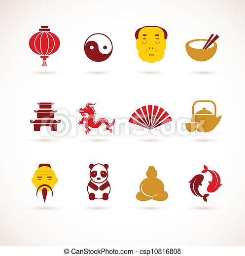 porcelaine, collection, icônes - csp10816808