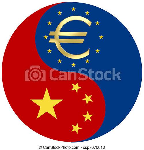 porcelaine, crise, euro - csp7670010