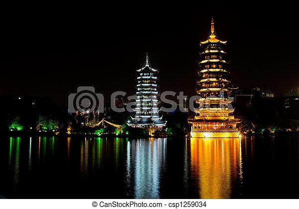porcelaine, guilin, pagodes - csp1259034