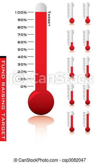 El porcentaje del termómetro - csp3082047