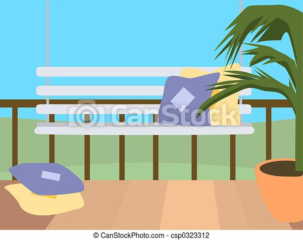 Porch Drawing Csp0323312