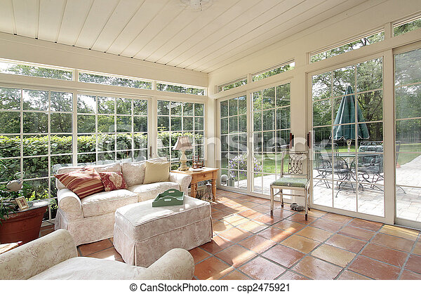 Porch with spanish tile - csp2475921