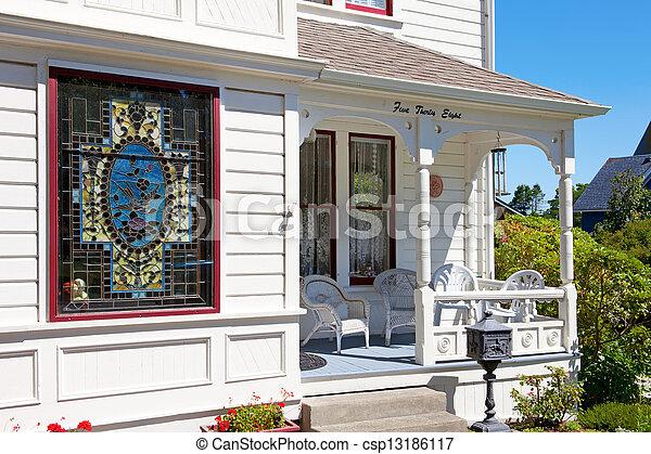 Stock photography of porche maison verre am ricain for Porche americano