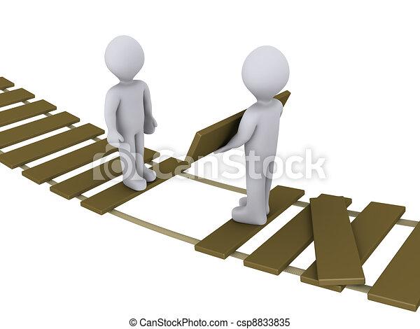 porción, puente, otro, persona - csp8833835